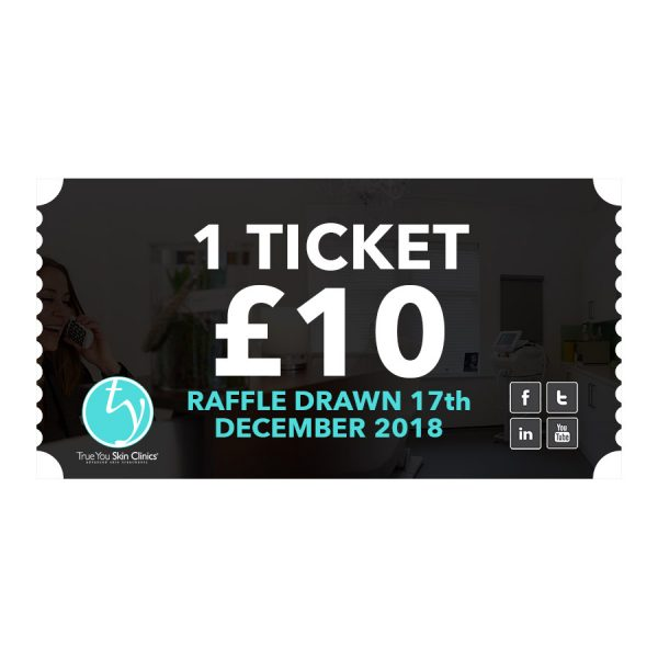 True You Skin Clinics raffle ticket x1